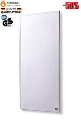 Fern Infrarot Heizung 600 Watt mit Digital- Thermostat